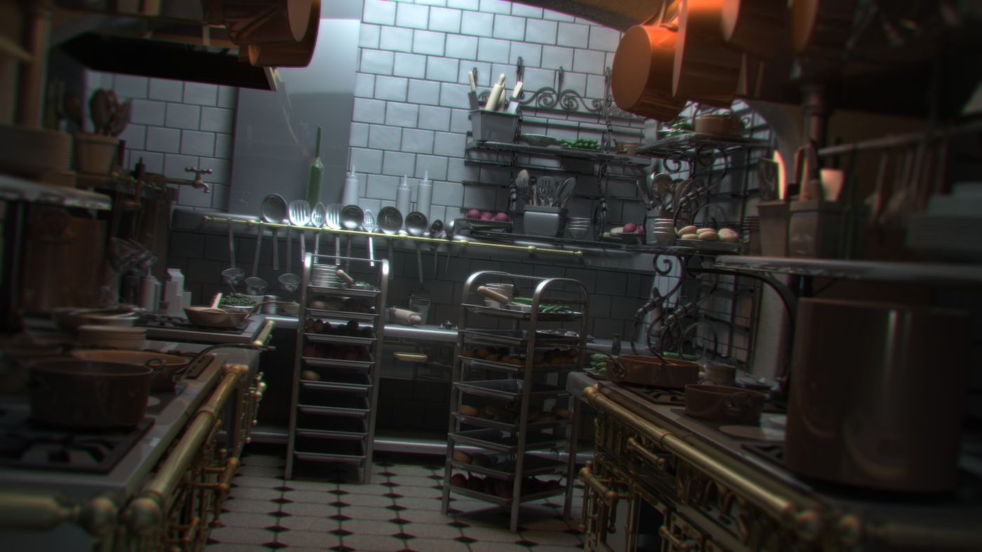 Ratatouille Kitchen Cg Lighting Challenge By Jose Alegria