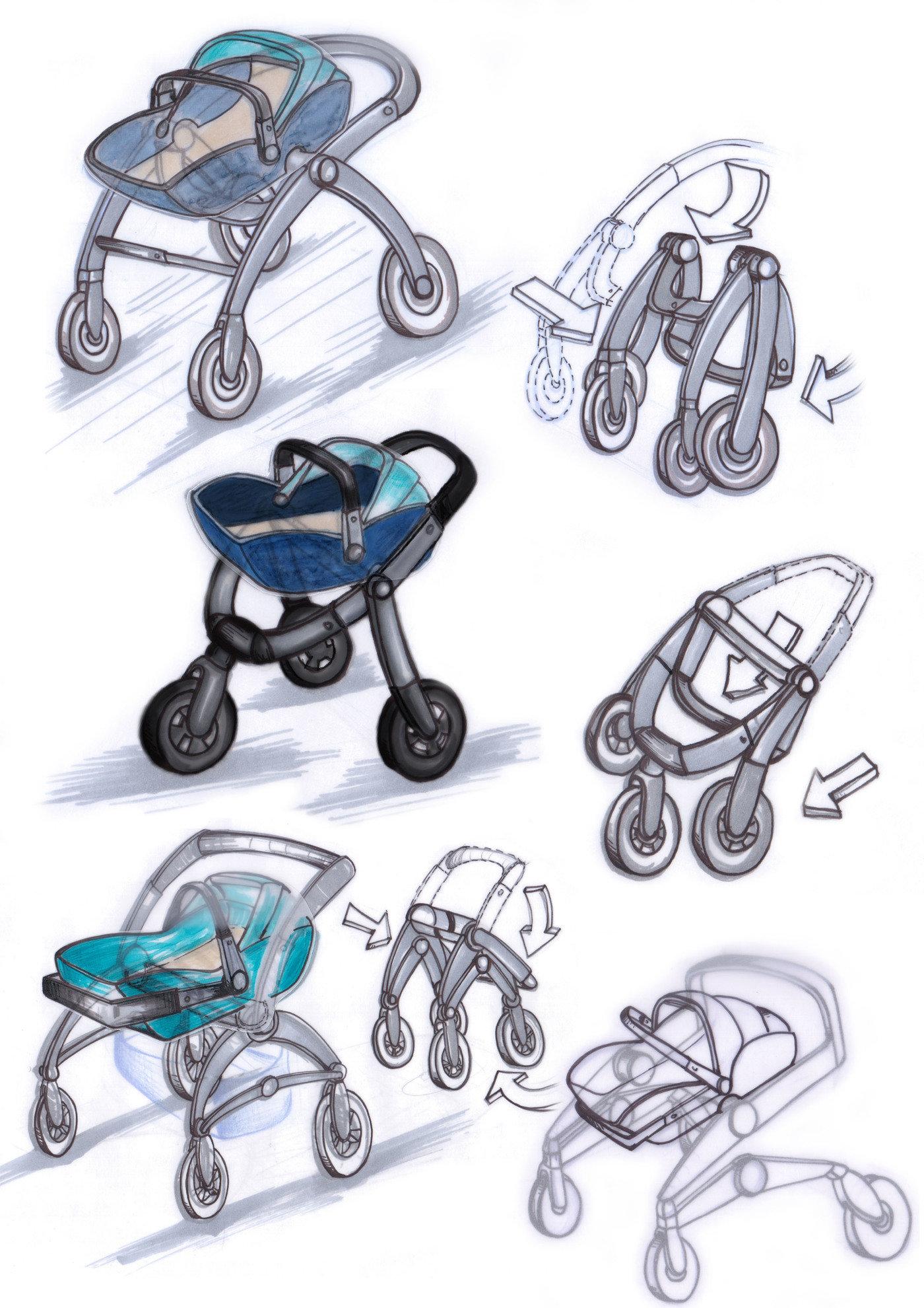 Concept Design For A New Baby Pram By Adriana Garcerá