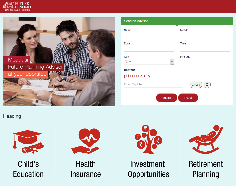 Future Generali Life Insurance by VISHRAM DHURI at Coroflot com