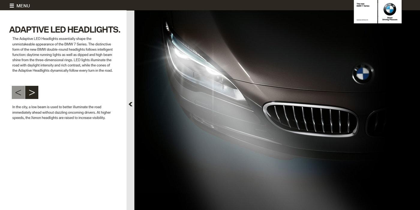 BMW 7 series LCI launch by Bharat Chauhan at Coroflot com