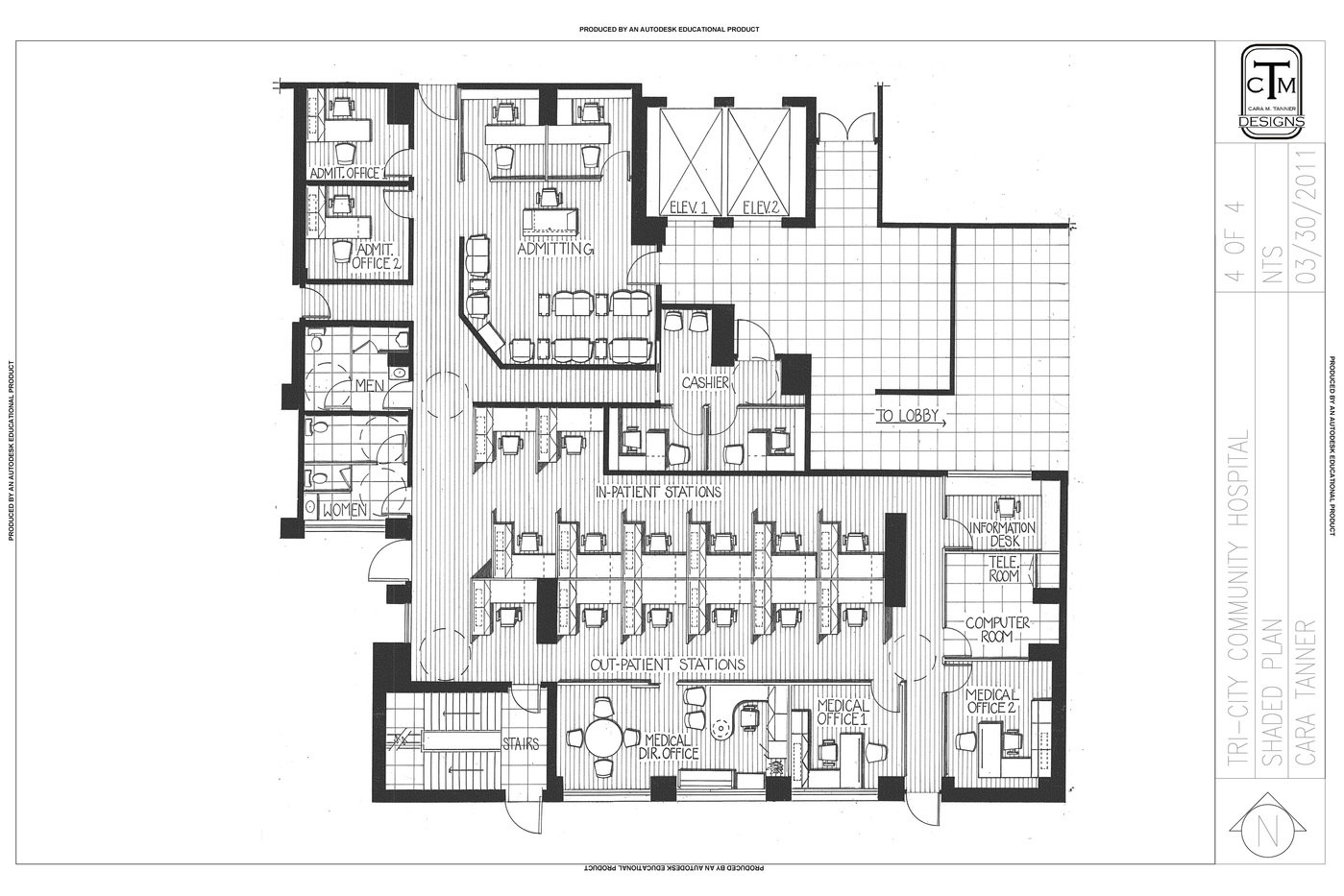 Tri City Community Hospital Floor Plans By Cara Tanner At Coroflot Com