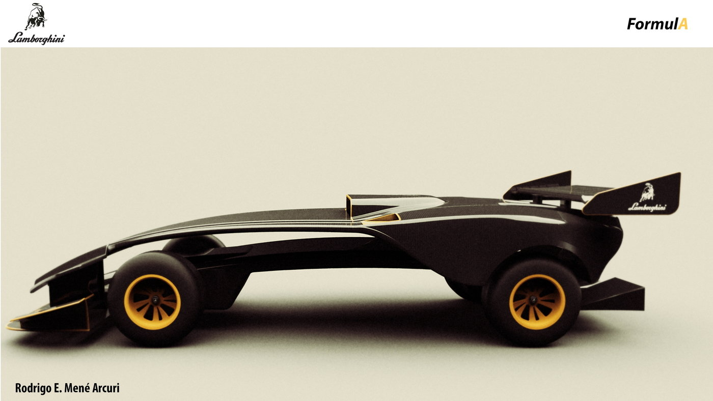 Lamborghini Formula Autonomous F1 By Rodrigo Mene Arcuri At