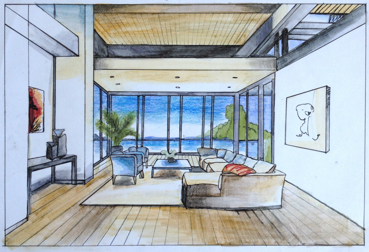 Hand Renderings By Hope Wortham At Coroflot Com