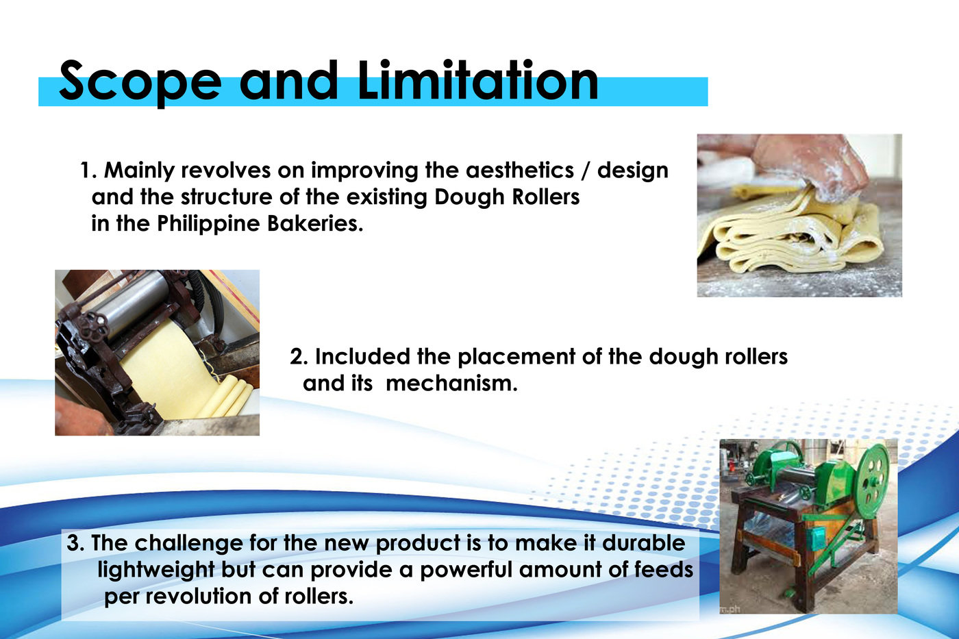 Dough Roller Equipment Thesis College by Abegail Damian at