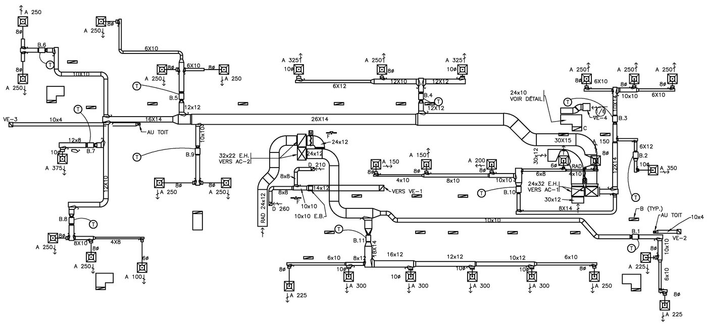 Hvac Plans By Raymond Alberga At Drawings In Autocad