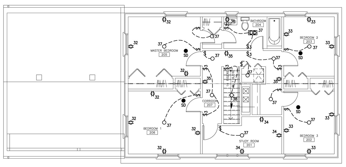 Electrical Plans By Raymond Alberga At 2 Bedroom Plan