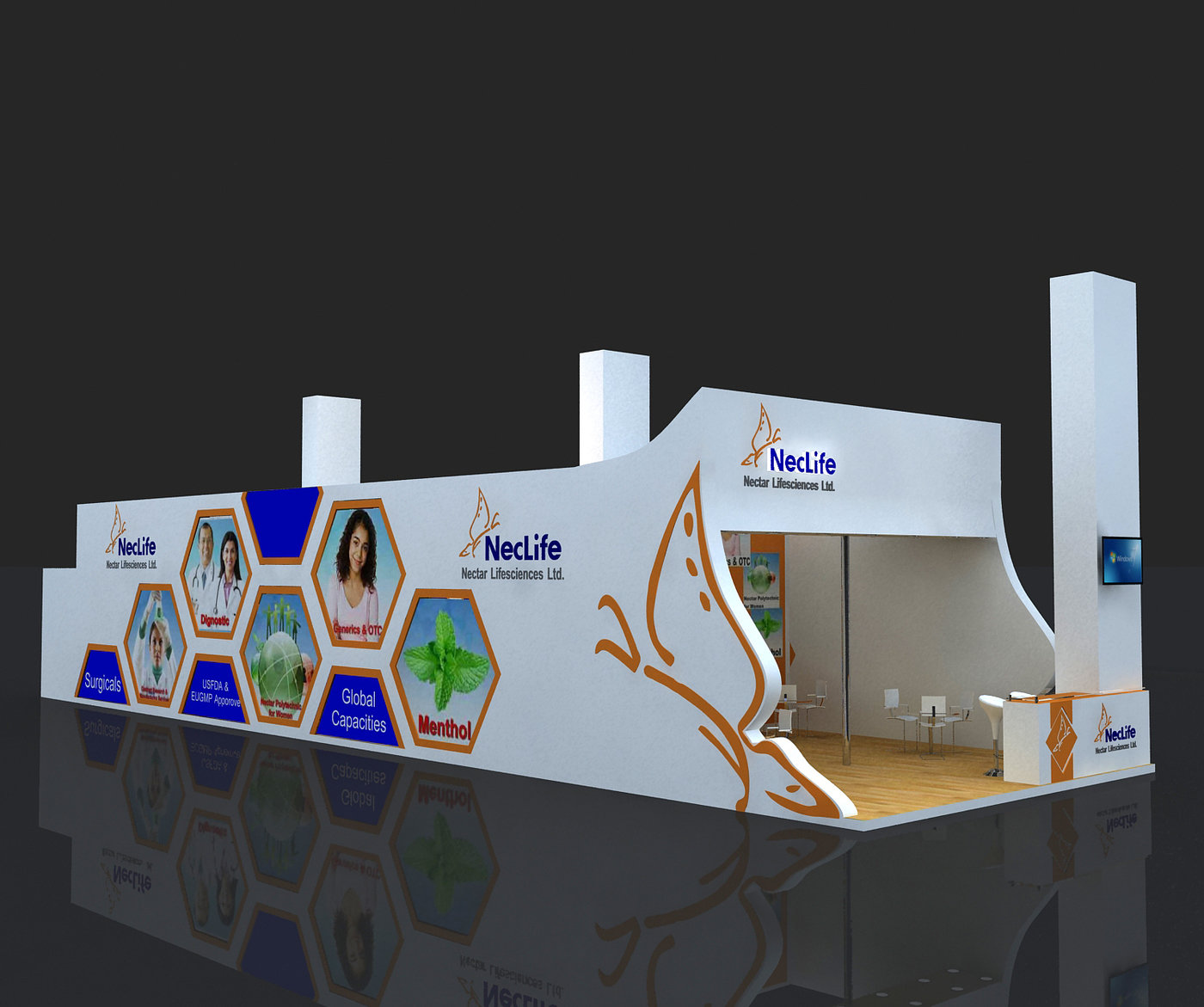 3d Exhibition Designer Jobs In Singapore : Exhibition stall design by vaibhav shantaram jadhav at