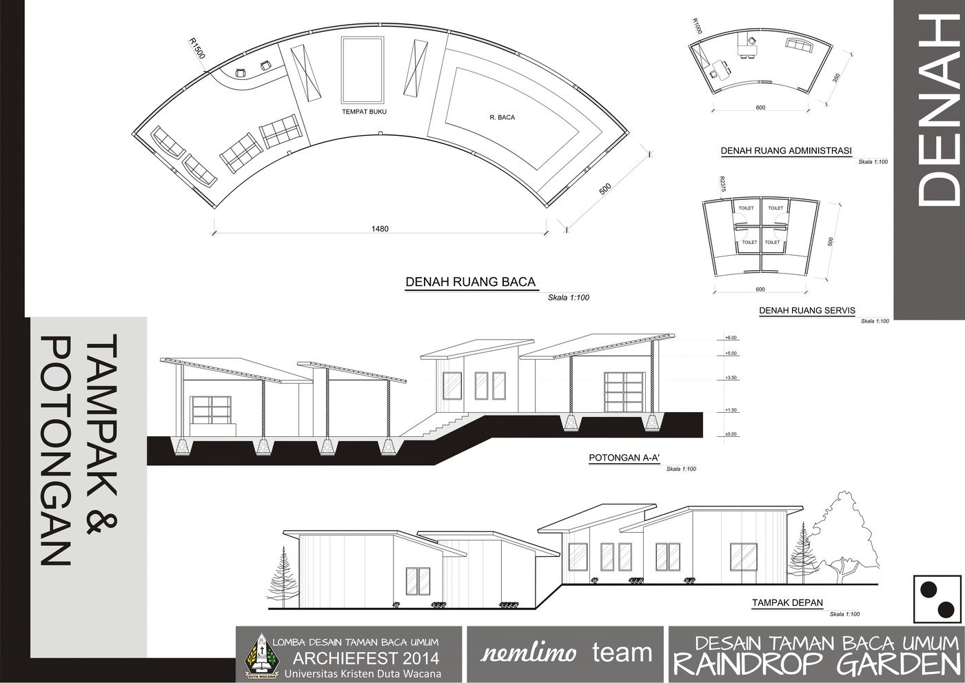 Archiefest 2014 Desain Taman Baca Umum By Rizal Ardy Firmansyah At  Coroflot.com