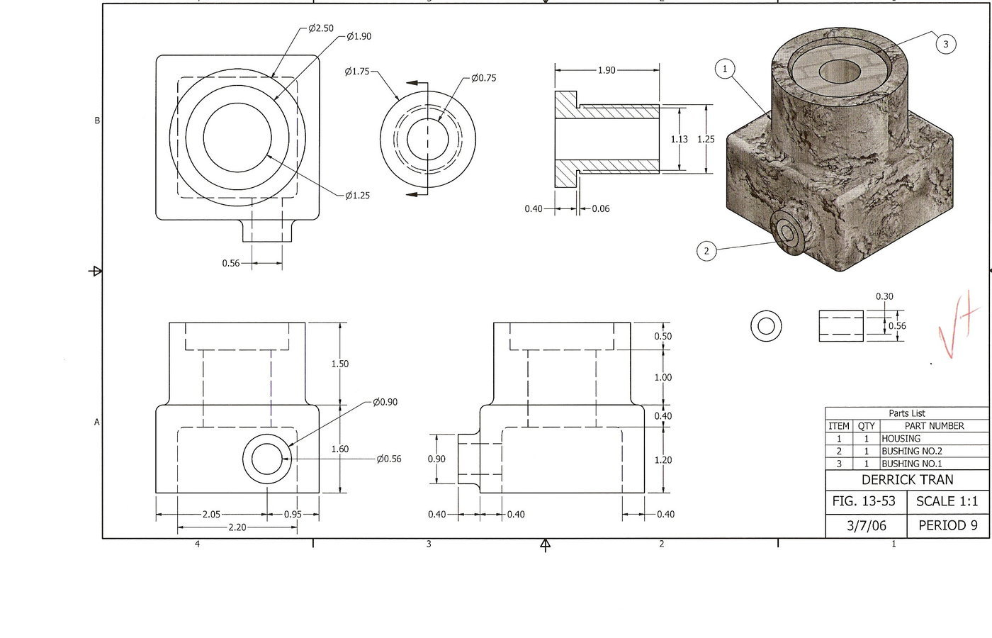 High School Technical Drawing Course by Loc D  Tran at