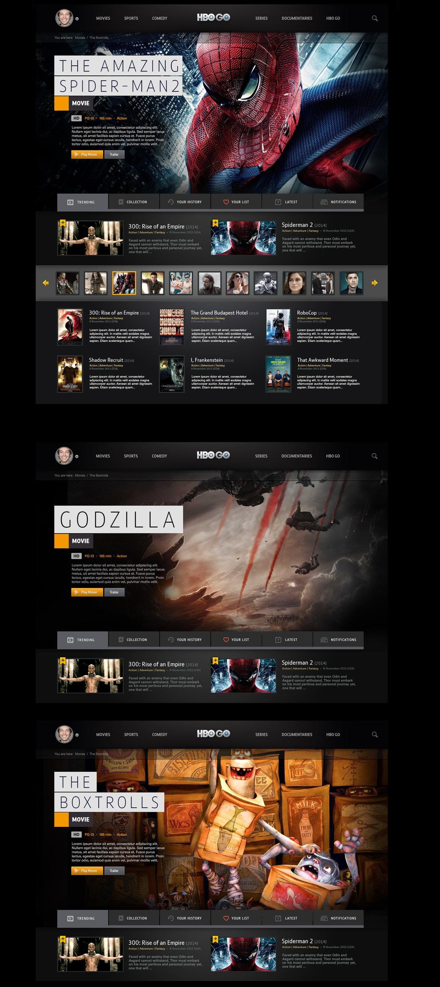 HBO Go by Thomas Moeller at Coroflot com