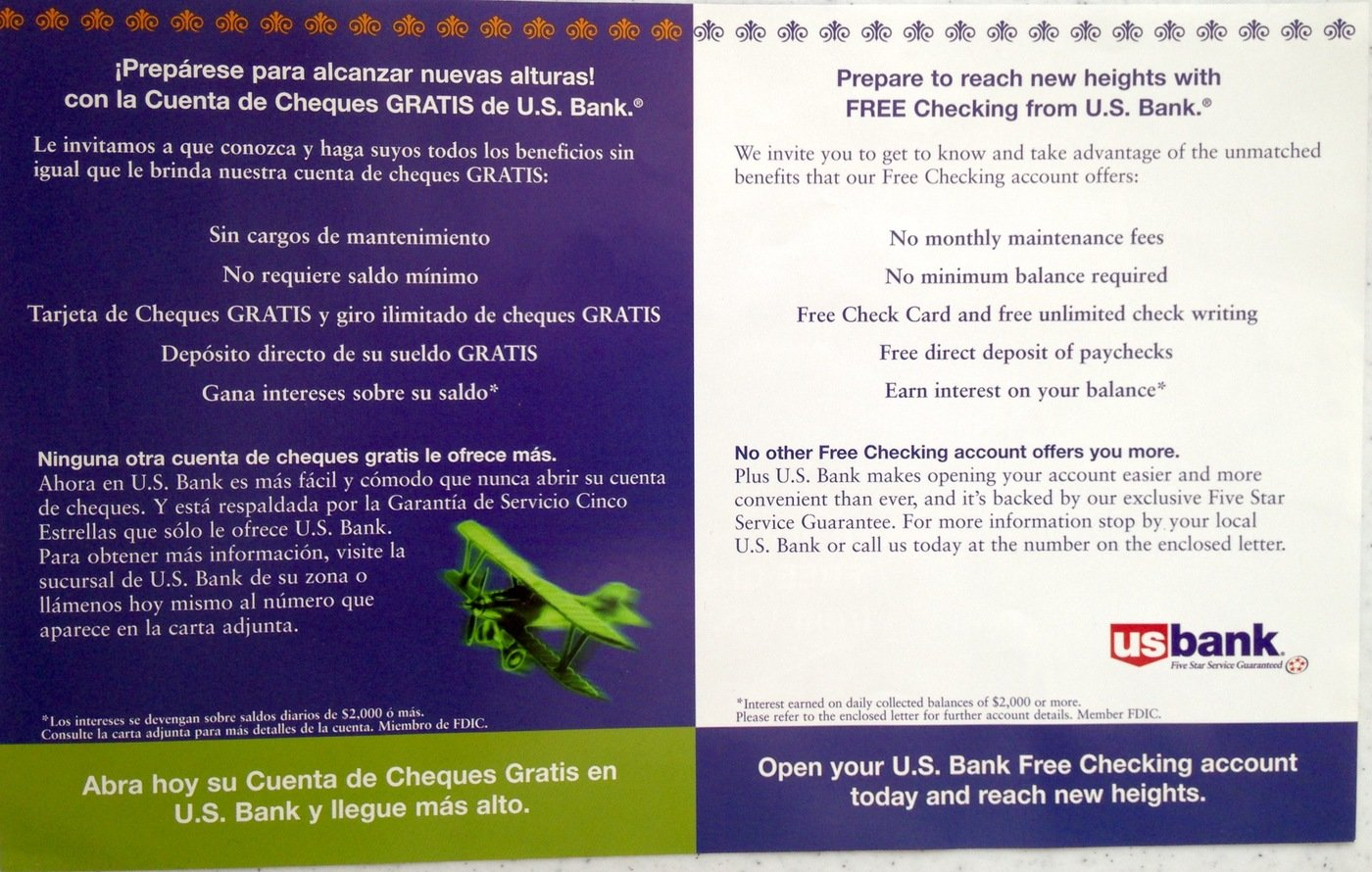 US Bank Award Winning Direct Mail By Gabriela Mangieri Harper At