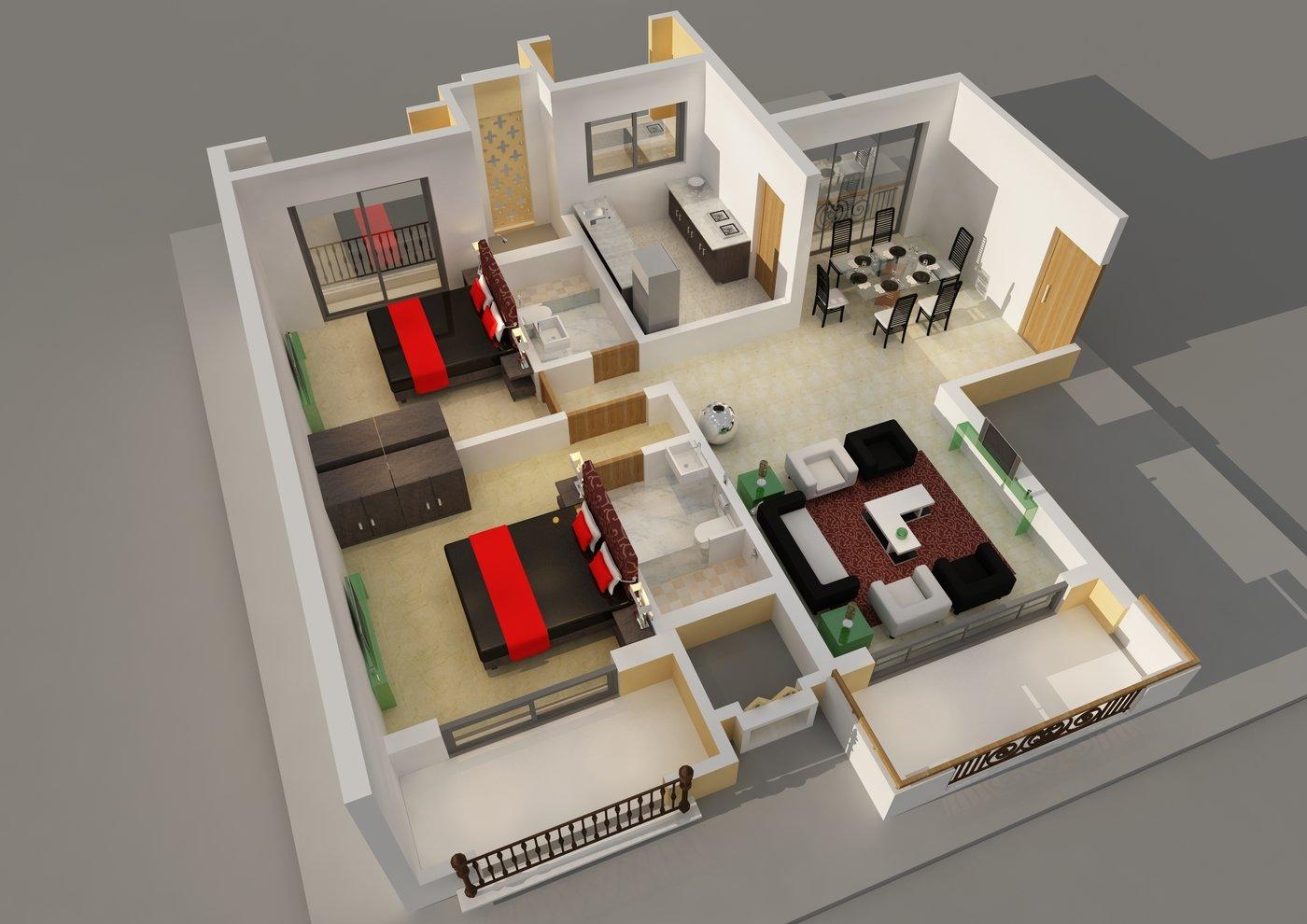 3d Floor Plan By Nayan Kadu At Coroflot Com