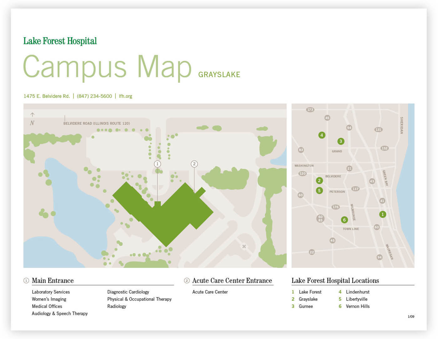 Lake Forest Hospital Wayfinding - Maps and Floor Guides by Abby ...