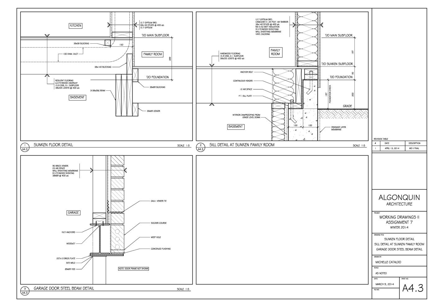 Working Drawings - AutoCAD (1) by Michelle Cataldo at