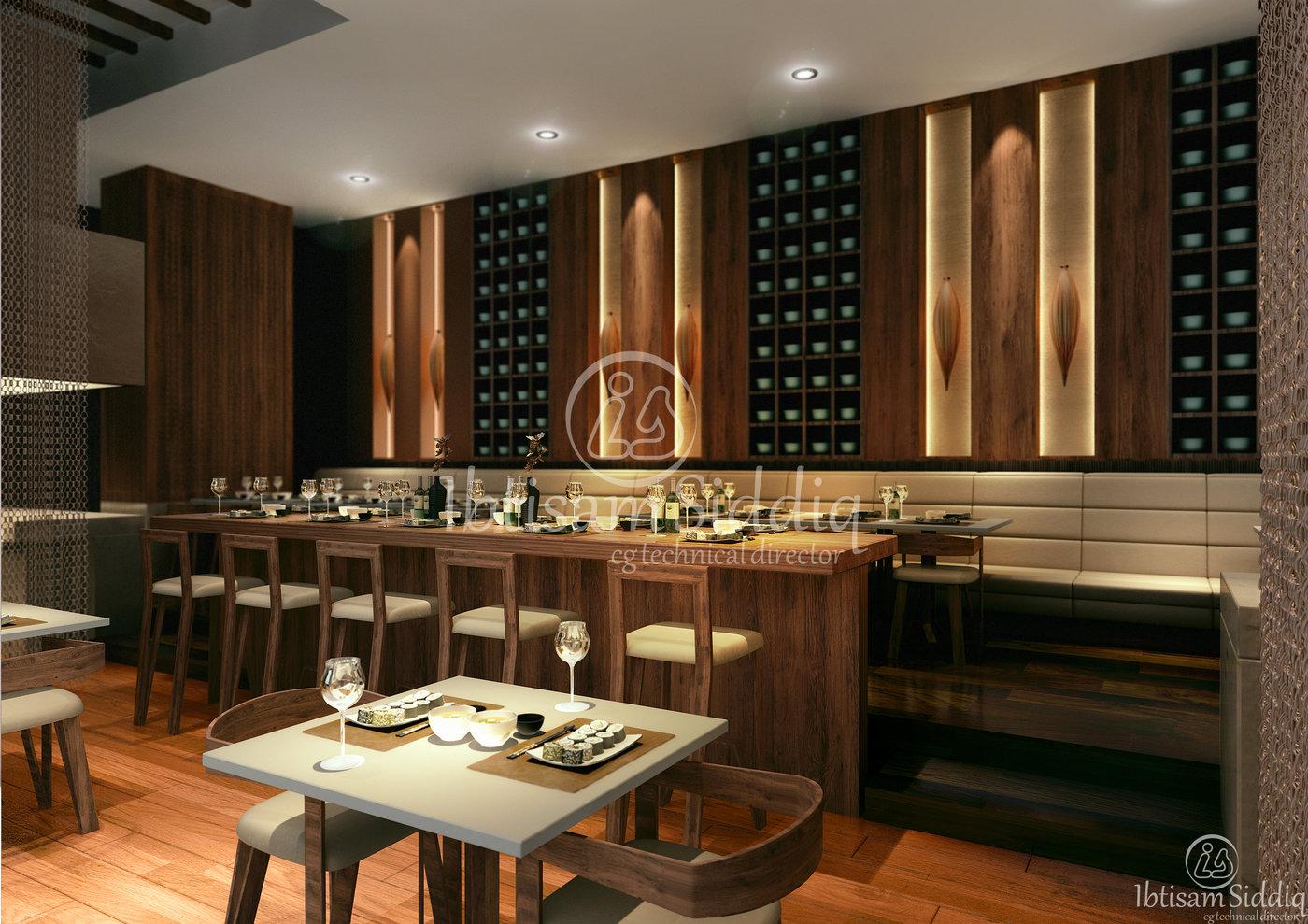 Japanese Restaurant - Hotel in Dubai by Ibtisaam Siddiq at