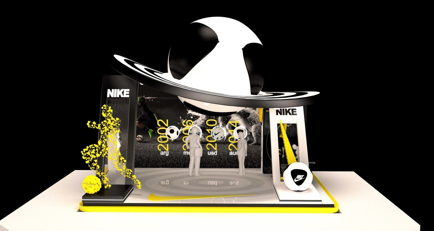 Nike 3d exhibition stand by Saqib Hussain at Coroflot com