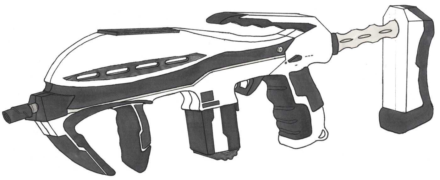 Concept Art Futuristic Crossbow