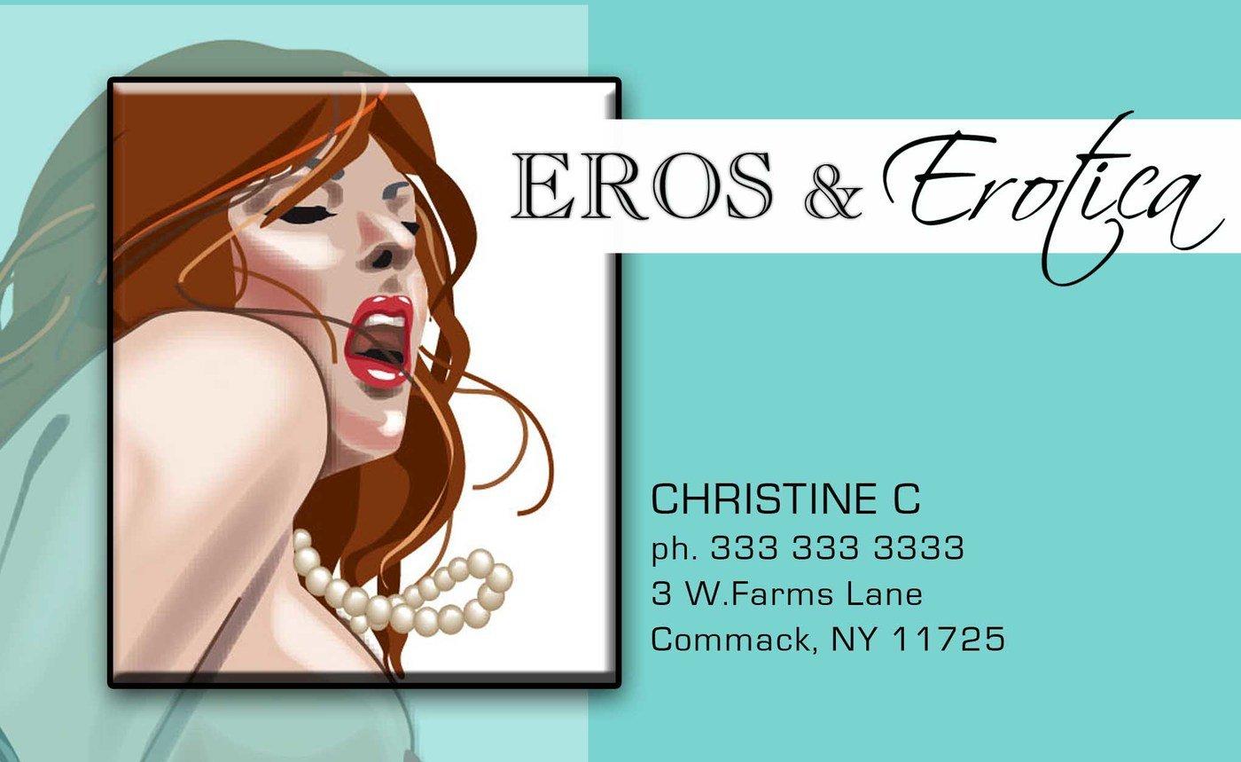 Illustration and design - Adult industry business card design