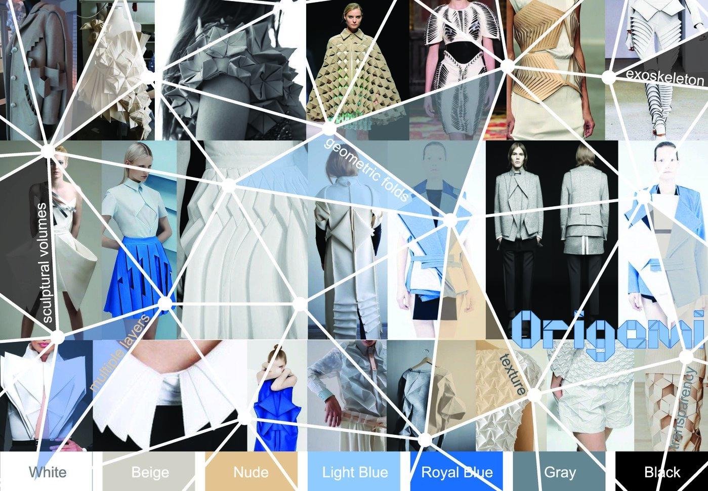 Origami Moodboard Fashion Show By Carole Putcha Ha At Coroflot Com