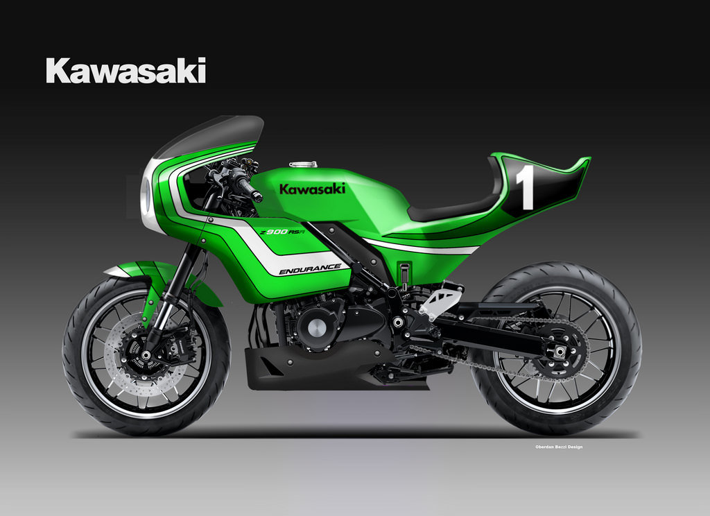kawasaki z 900 rsr endurance concept by oberdan bezzi at. Black Bedroom Furniture Sets. Home Design Ideas