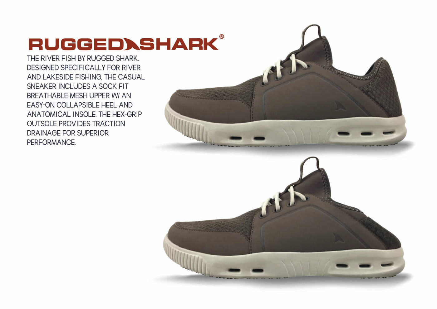 The River Fish Rugged Shark Footwear By Drew Mckeever At