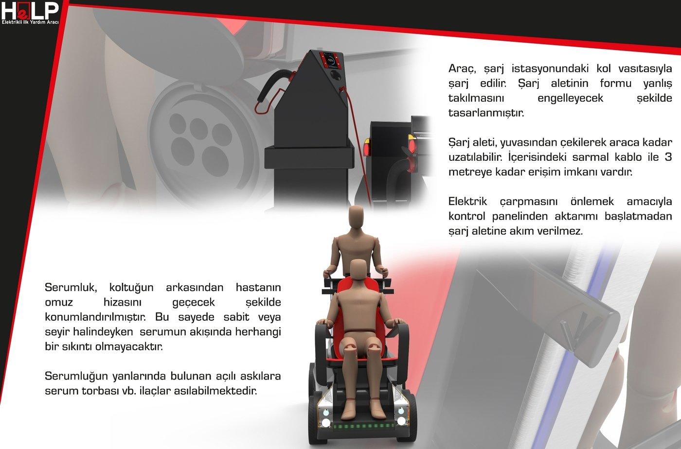 HeLP Electrical Emergency Vehicle by Alperen Tunçeli at
