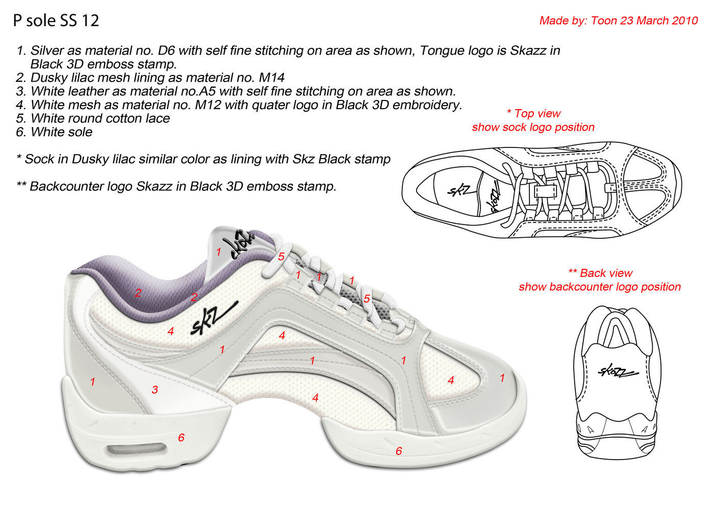 Footwear Design For Sansha