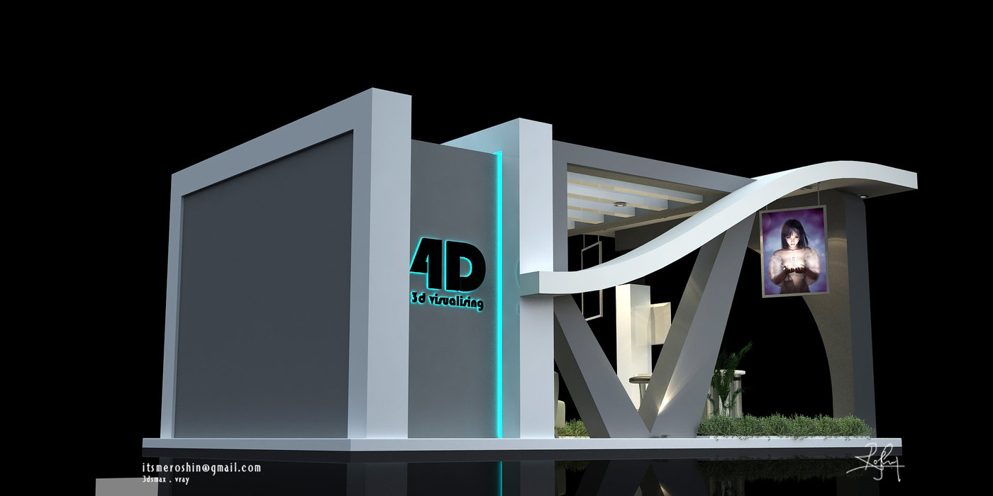 Exhibition Stand Design 3d Max : Exhibition stall design by roshin c v at coroflot