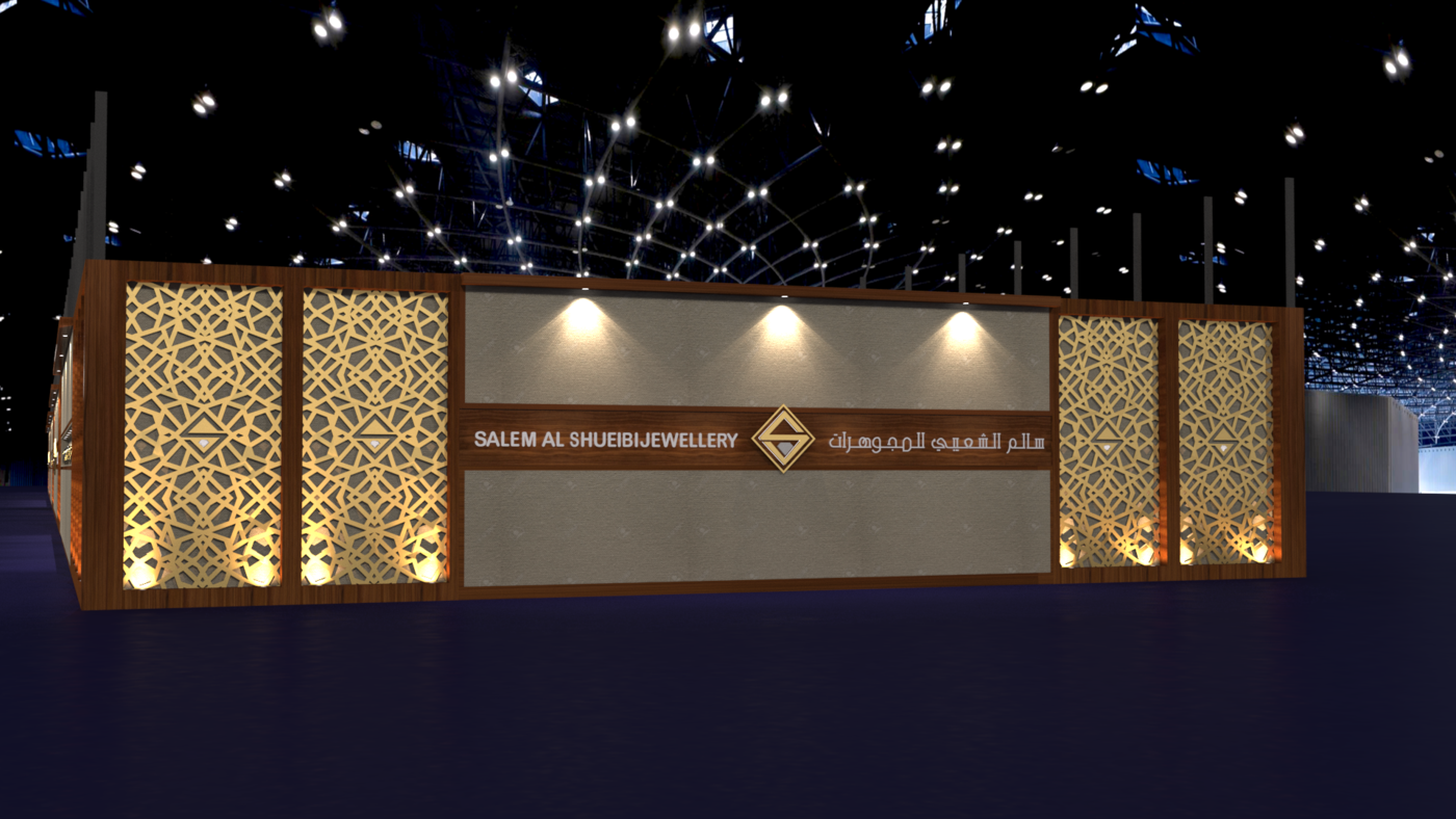 Jewelry Exhibition Stand Design : Salem al shueibi jewelry exhibition stand by muhammed asharaf at