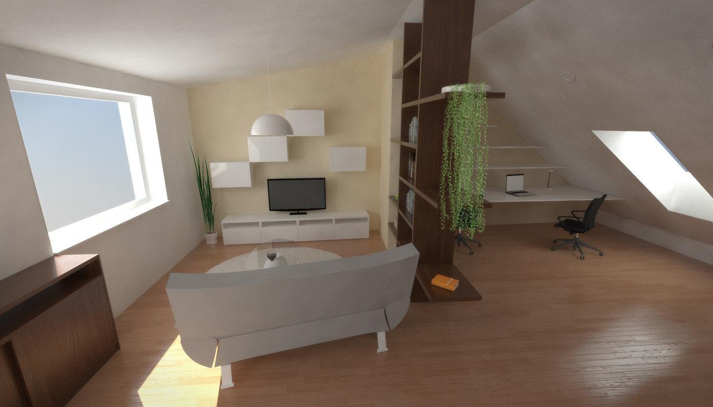 Interior Viz Room Under Roof By Filip Balcar At Coroflot Com