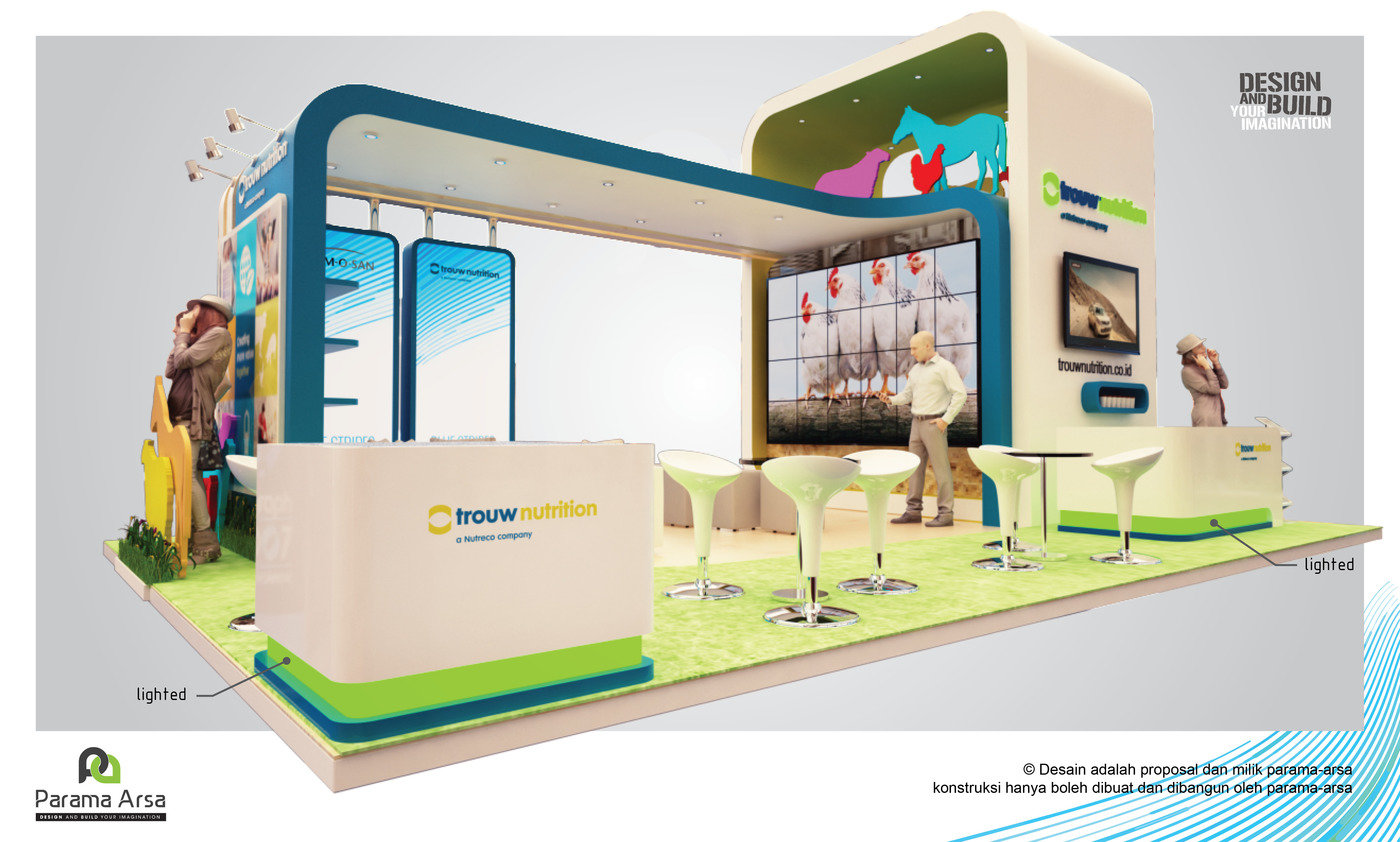 3d Design For Trouw Nutrition Exhibition Booth By Parama Arsa