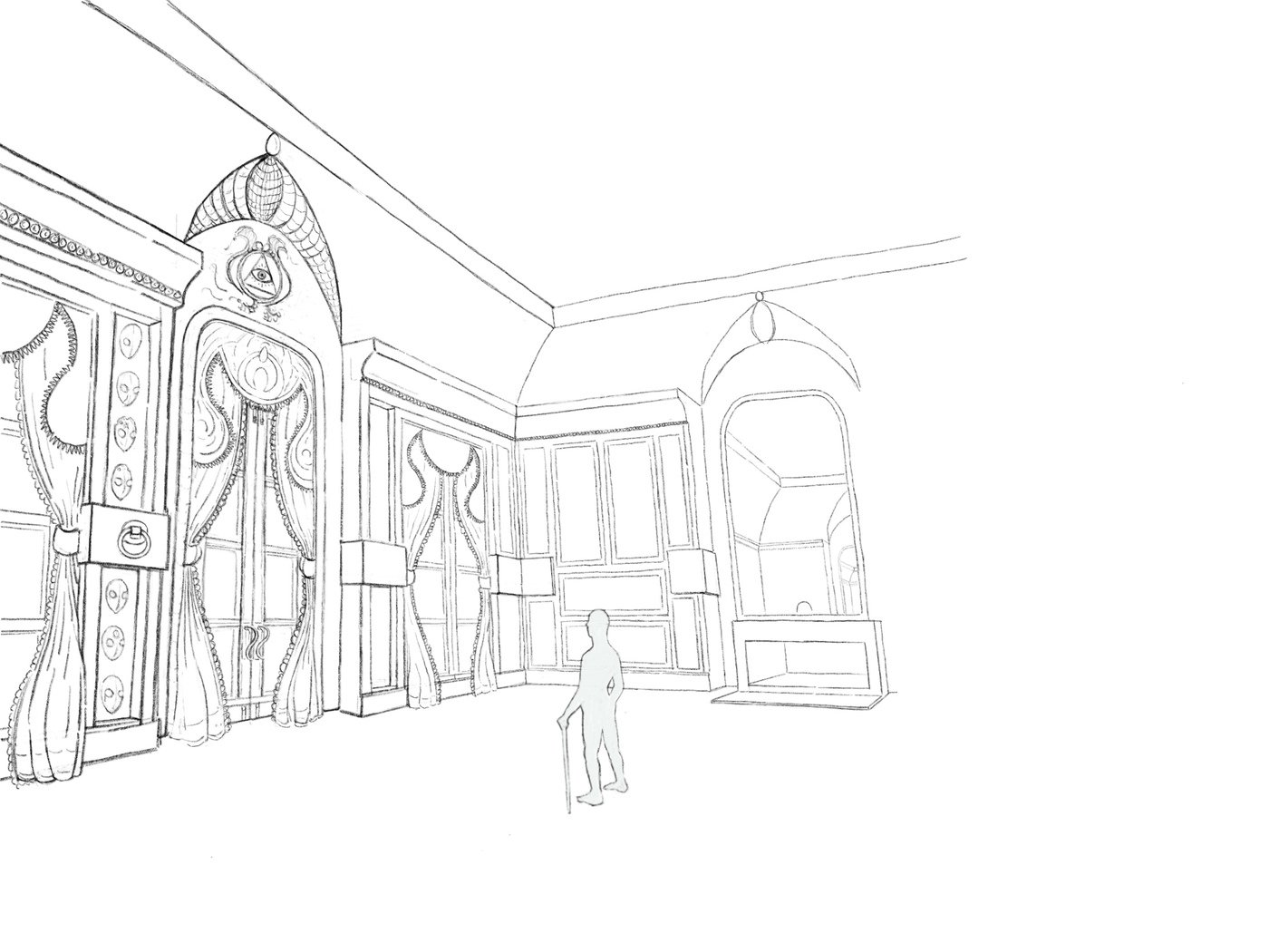Villain S Club Concept Art Perspective By Andrew Soper At