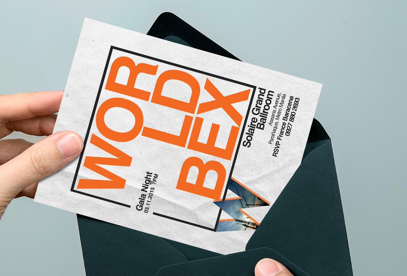 Invitation Design Worldbex Gala Night By Karina So At Coroflot Com