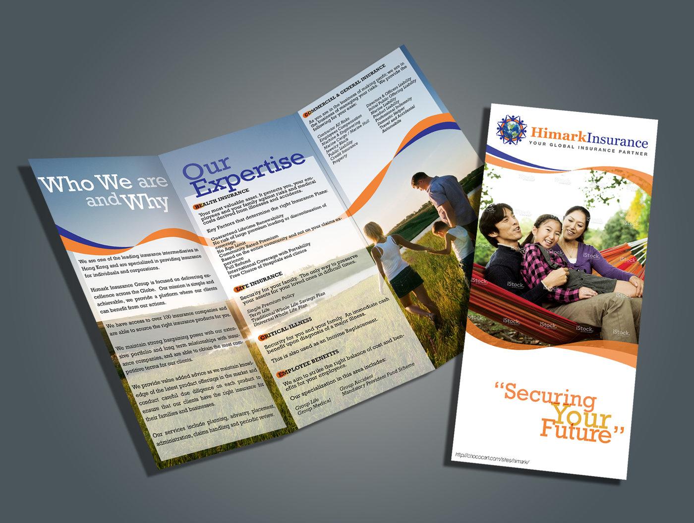 Brochure design himark insurance company by karina so at coroflot share altavistaventures Image collections