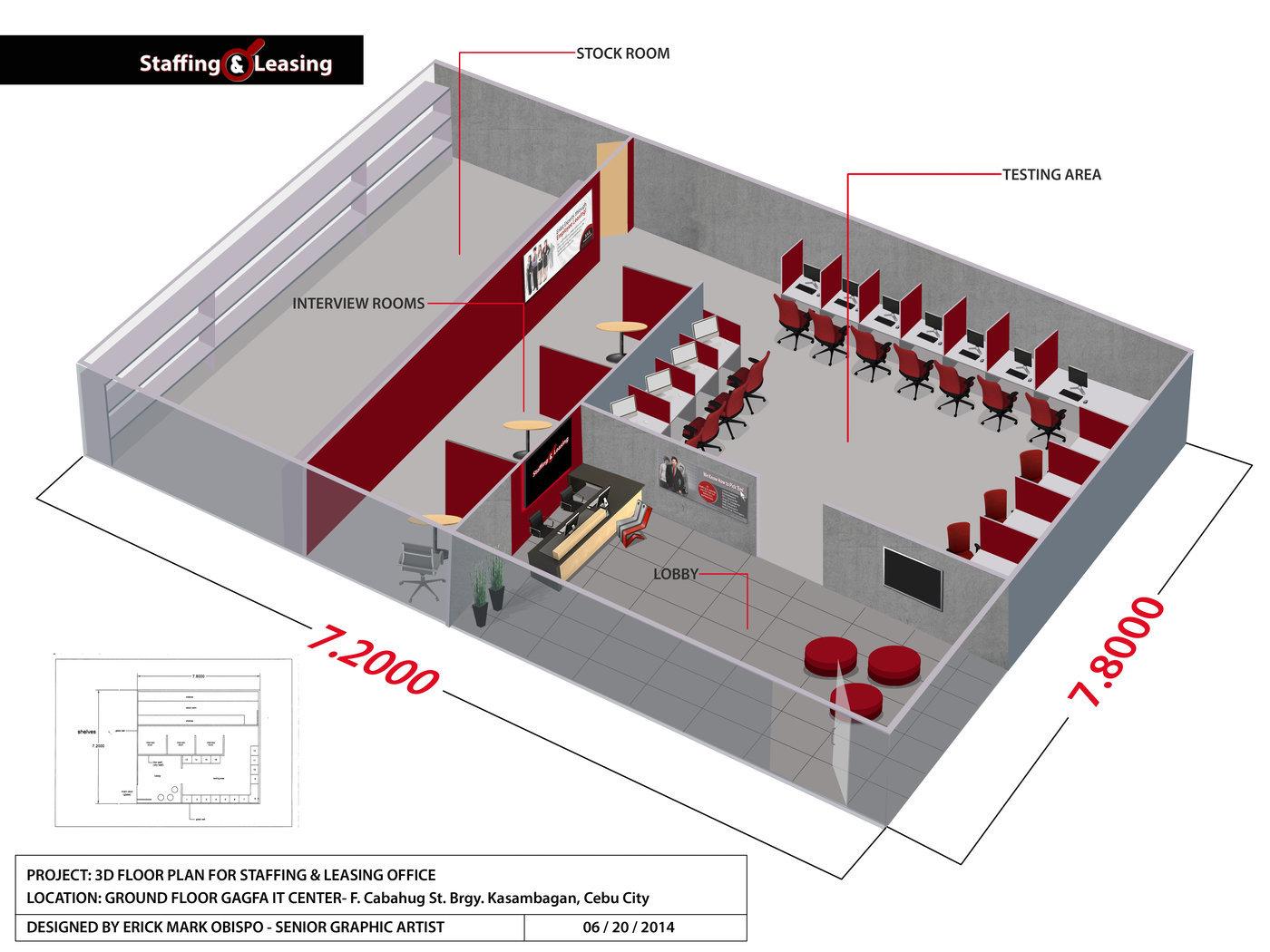 Floor Plan Illustrations By Erick Mark Obispo At Coroflot Com