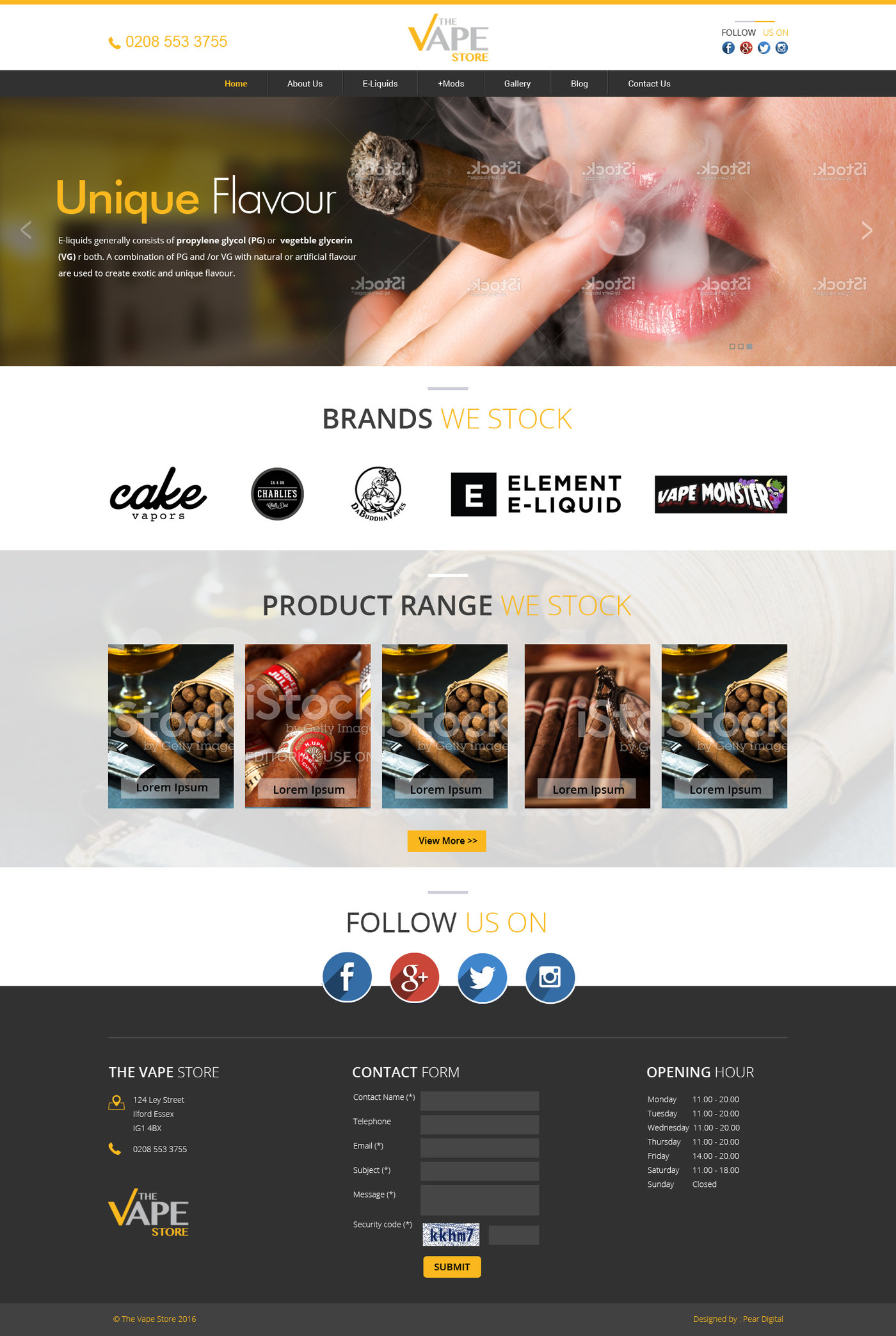The Vape-Store Website by Mayur Graphic at Coroflot com