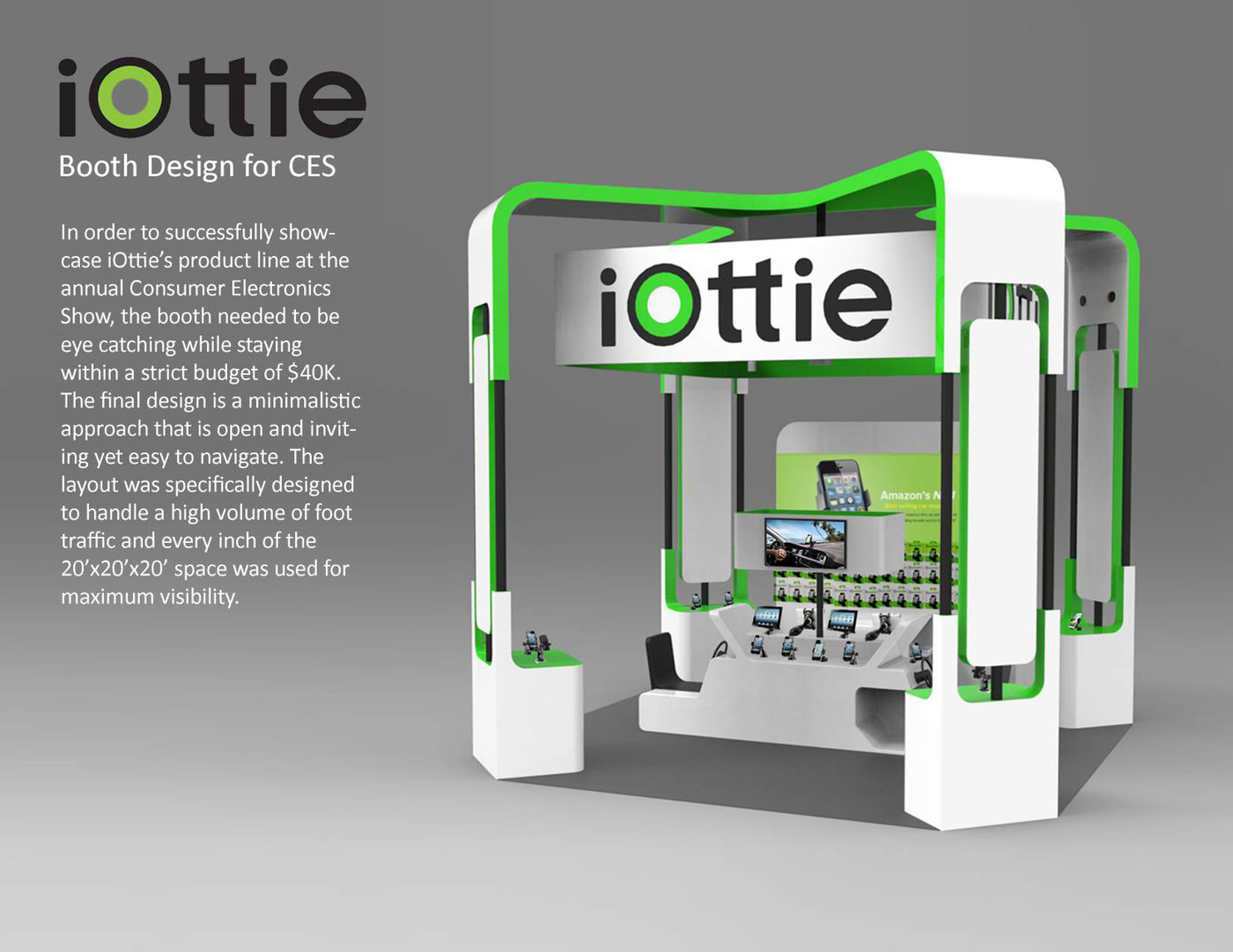 Exhibition Booth Layout : Iottie ces exhibition booth by james byun at coroflot