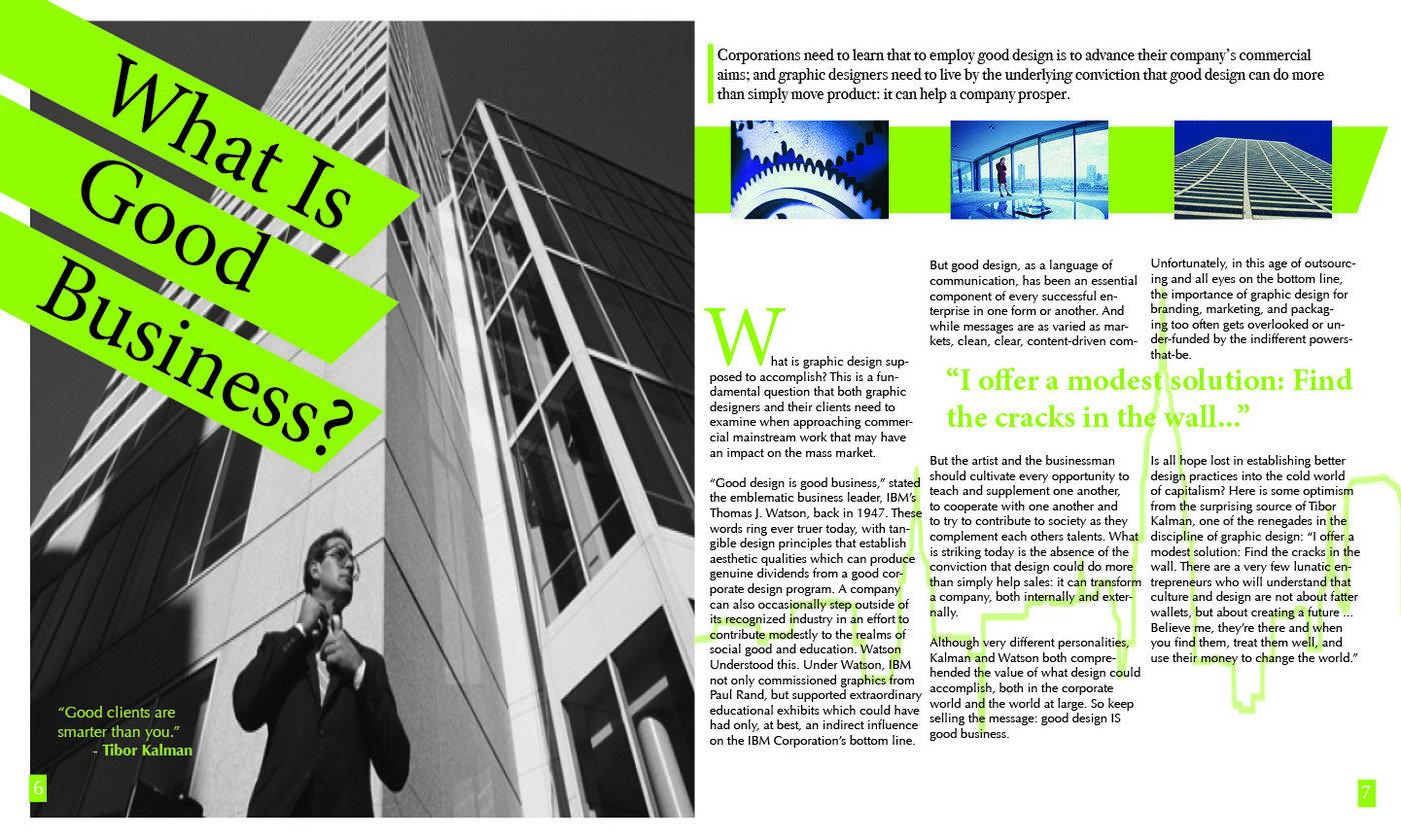 Metropolis Magazine Spread by Faith Kilpatrick at Coroflot com