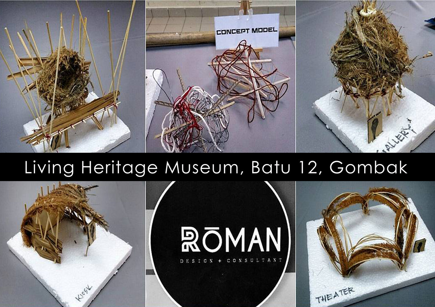 Massing Model - Living Heritage Museum, Batu 12, Gombak  by Aisyah