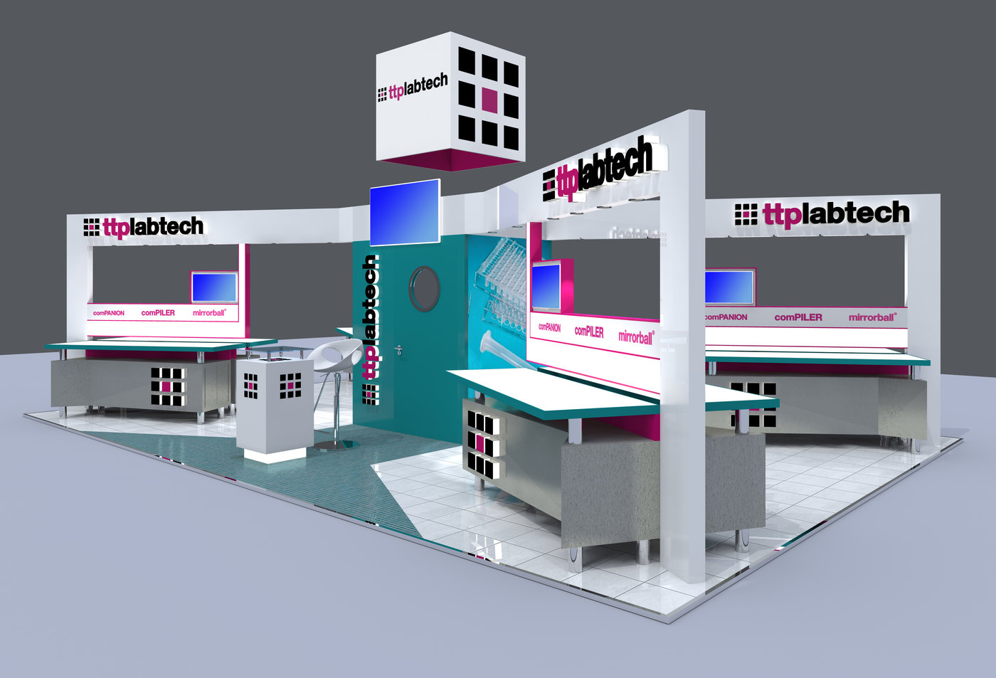 Custom Modular Exhibition Stands : Custom modular exhibition stand design ttp labtech by jason