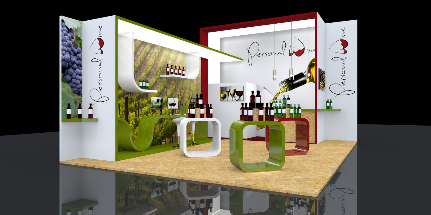 Custom Exhibition Stand Jobs : Custom modular exhibition stand design personal wine by