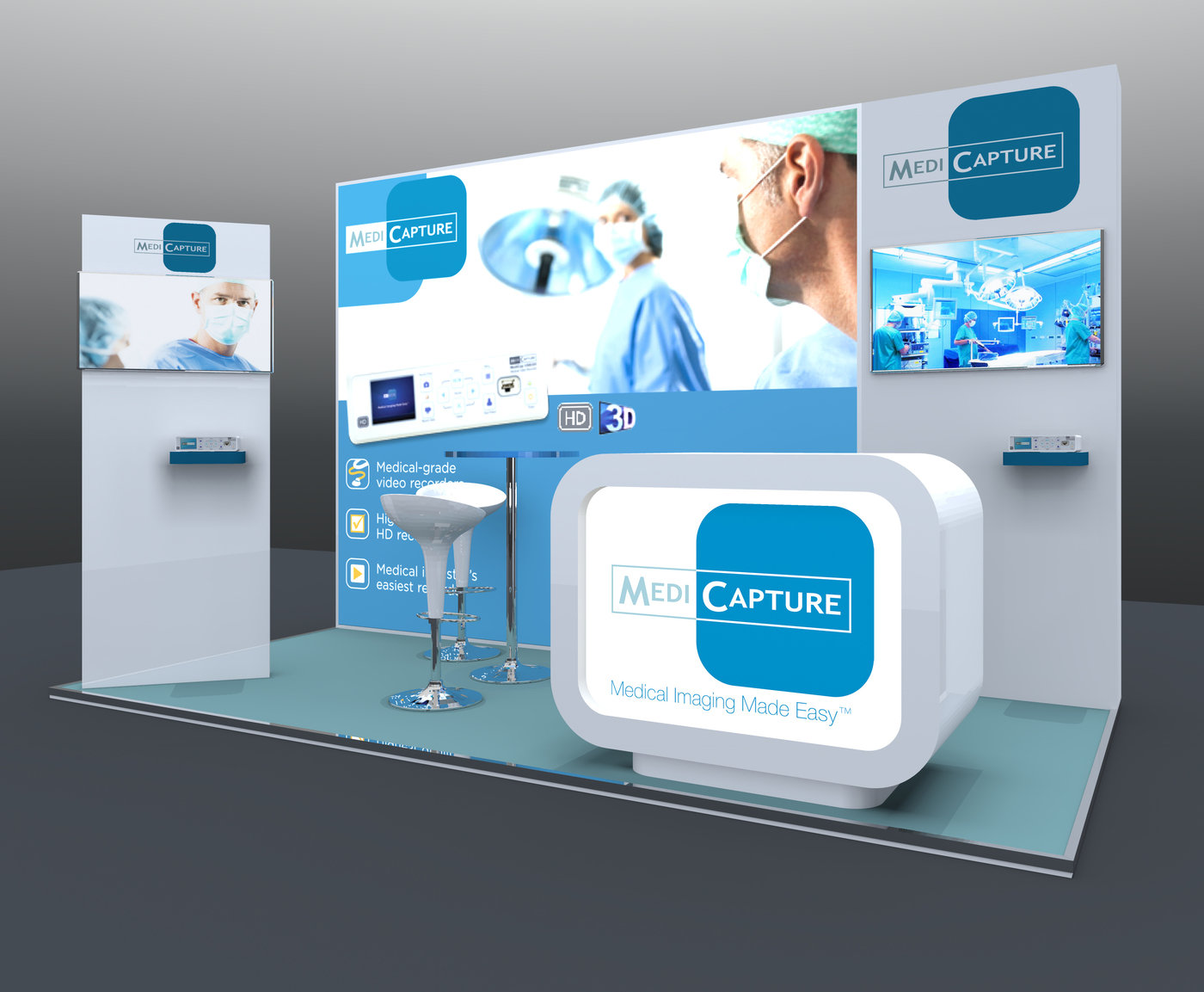 Custom Modular Exhibition Stands : Modular custom exhibition stand design medicapture by jason