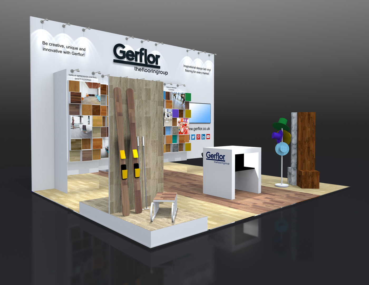 Custom Exhibition Stand Yet : Custom build exhibition stand design gerflor sds by jason damon