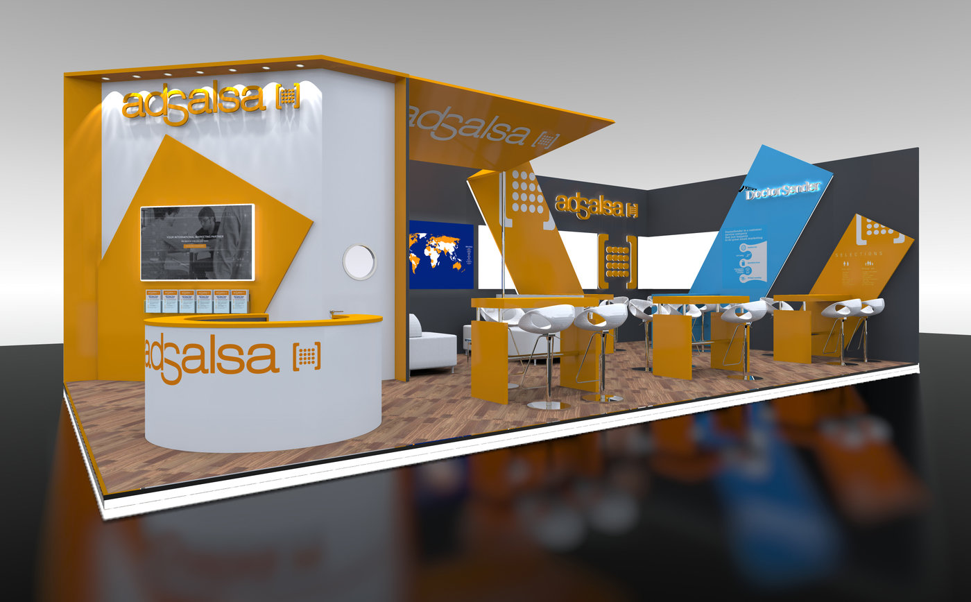 Custom Modular Exhibition Stands : Custom modular exhibition stand design adsalsa by jason damon at