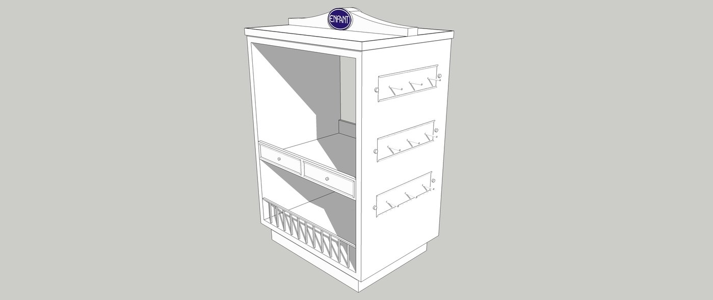 Island Display/Shelves 3D Modeling Drafts by Diane Rodriguez at