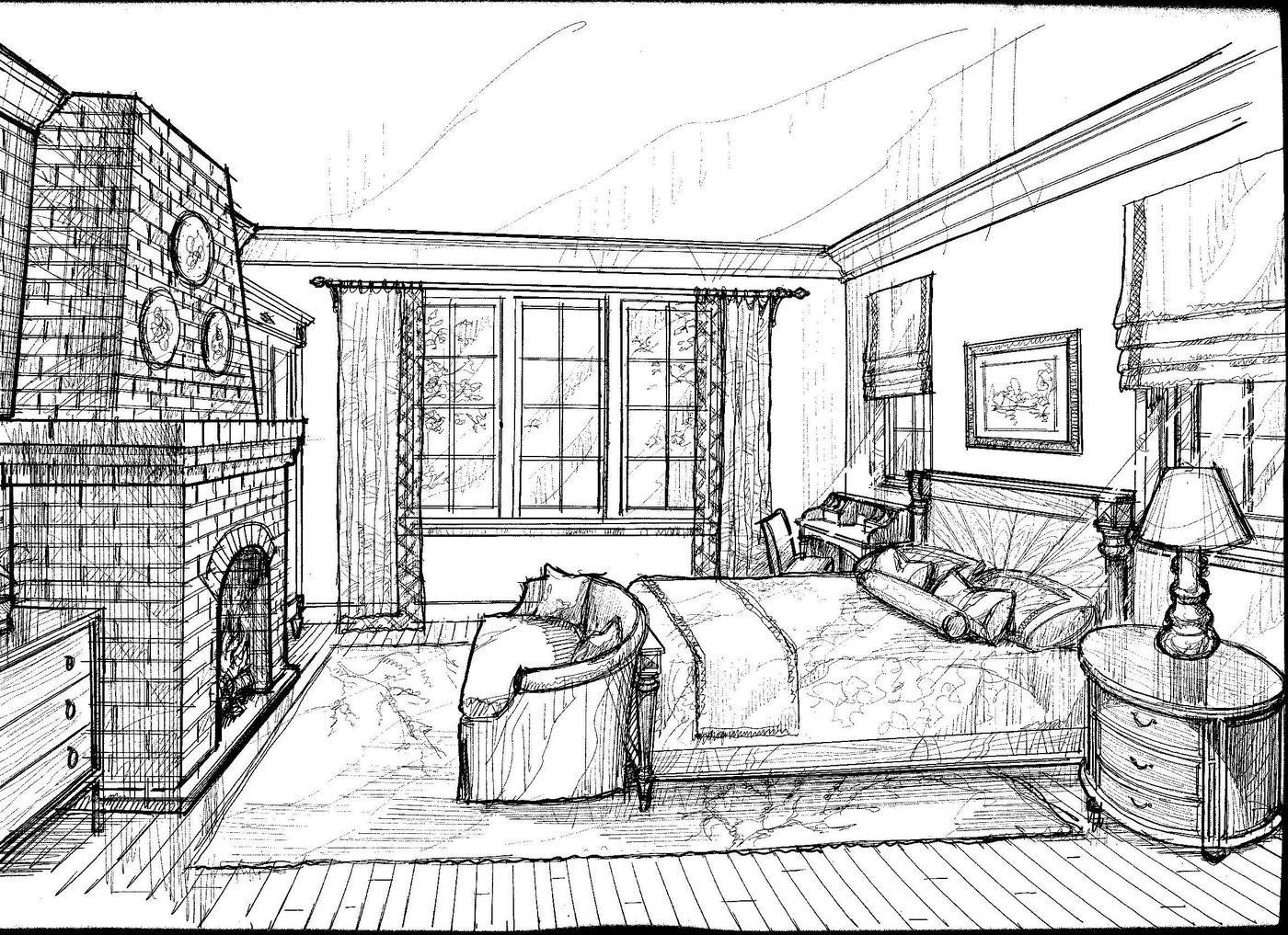 Interior Design Drawings Renderings