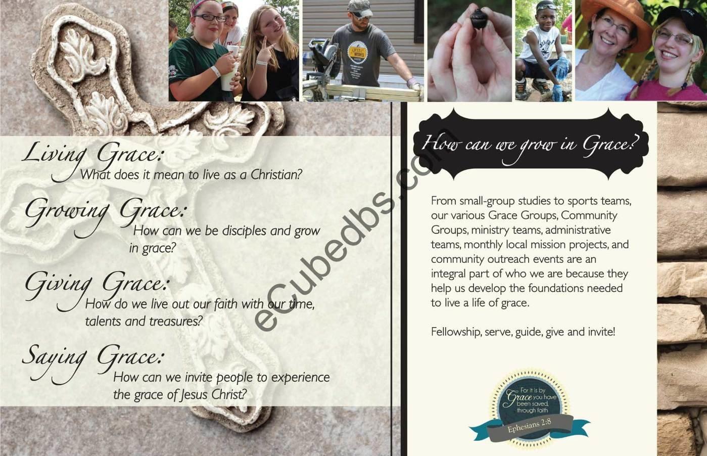 Grace Crossing Church Brochure by Paula Brown at Coroflot com