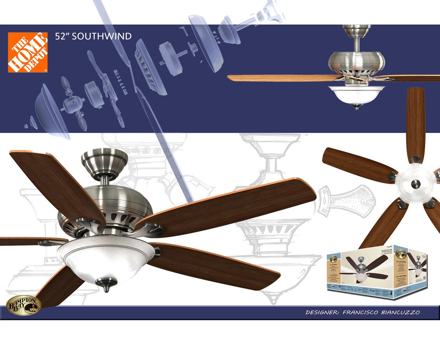 Hampton Bay Southwind Ceiling Fan By Francisco Biancuzzo