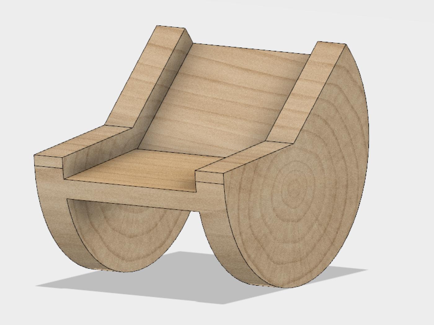 Incredible Circular Wedge Rocker Chair By Jordan Linton At Coroflot Com Customarchery Wood Chair Design Ideas Customarcherynet