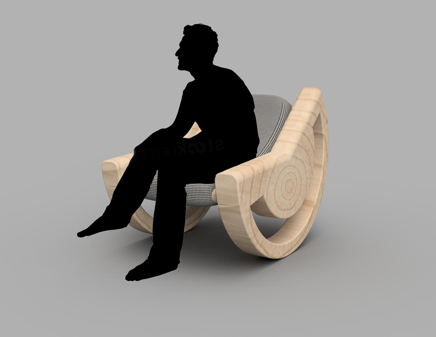 Astonishing Circular Wedge Rocker Chair By Jordan Linton At Coroflot Com Customarchery Wood Chair Design Ideas Customarcherynet